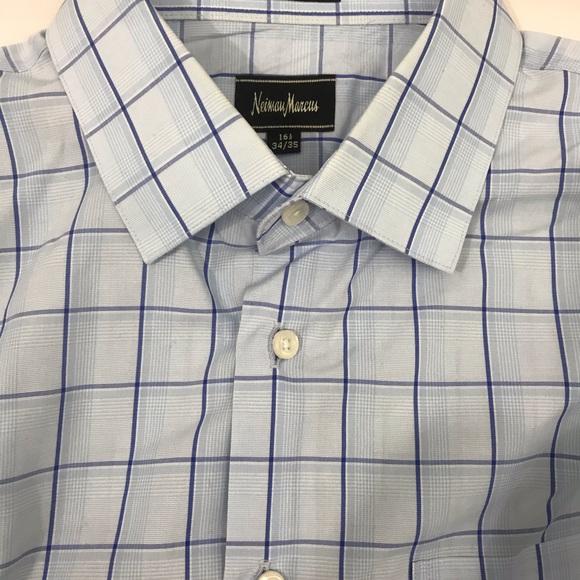 NIEMAN MARCUS 👔Classic stylish  plaid Man shirt